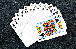 Poker cards. On dark background royalty free stock photos