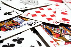Poker cards. A bunch of grunge poker cards Royalty Free Stock Photo