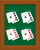 Poker cards. Royalty Free Stock Photos