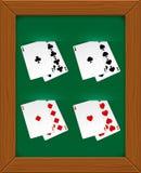 Poker cards. Royalty Free Stock Photos