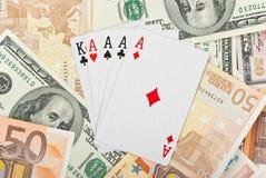 Poker cards Royalty Free Stock Photo