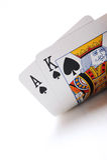 Poker cards. Texas holdem poker cards, ace, king stock photos