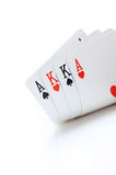 Poker cards. Aces and kings royalty free stock image