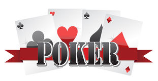 Poker cards Stock Photography