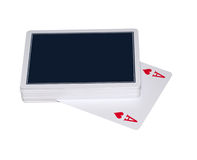 Poker Cards. Isolated poker cards on white background Stock Images