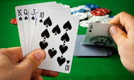 Poker cards royalty free stock images