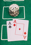 Poker cards, ace and casino Stock Image