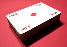 Poker cards - Ace of diamonds. A bunch of grunge poker cards Royalty Free Stock Image