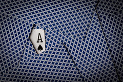 Poker cards with ace of spades showing Royalty Free Stock Photo