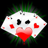 Poker cards background Royalty Free Stock Images