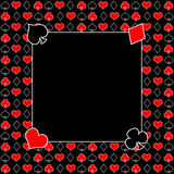 Poker/Cards Background / Black, Red and White Royalty Free Stock Images