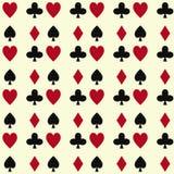 Poker cards casino gambling seamless pattern background playing royal king queen jack gamble symbols vector illustration. Poker cards casino gambling deck vector illustration