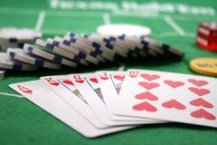 Poker Cards and chips royalty free stock photo