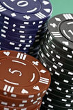 Poker Cards and chips Stock Images