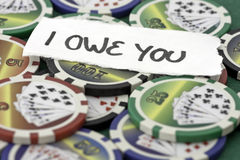 Poker Cards and chips. Shot taken of poker cards and chips during a match Stock Photography