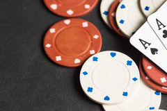 Poker cards and chips concept. High resolution image depicting poker cards and chips concept stock images