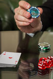 Poker cards and chips on the table. Card game, poker game. Casino games, card games, cards. The concept of the game in the gambling stock images