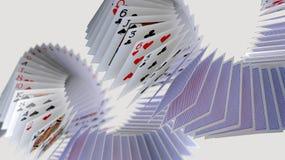 Free Poker Cards Falling Stock Image - 150148691