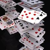Poker cards falling Stock Photos