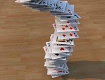 Poker cards falling Stock Image