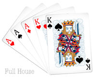 Poker cards full house Stock Photo