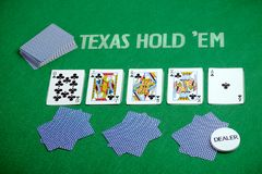 Poker cards Texas Hold em Stock Image