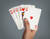 Poker cards. Royalty Free Stock Photo