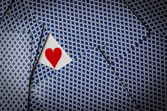 Poker cards with a heart showing royalty free stock photography