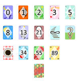 The poker cards Stock Images