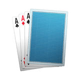 Poker cards. Illustration isolated in withebackground Stock Image