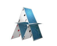 Poker cards. Illustration isolated in withebackground Royalty Free Stock Photo