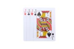 Poker cards J Royaltyfri Fotografi