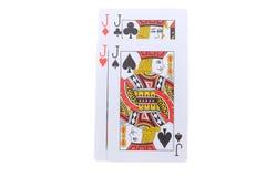 Poker cards J Arkivfoton