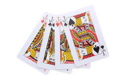Poker cards J Arkivbilder