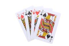 Poker cards J Royalty Free Stock Image