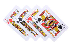 Poker cards J Royalty Free Stock Images