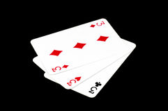 Poker cards, jokers Royalty Free Stock Images