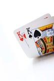 Poker cards, kings. Winning texas holdem starting hand, kings stock photography