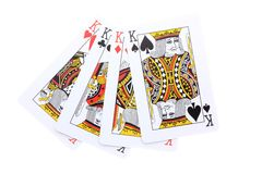Poker cards Kings Royalty Free Stock Photo