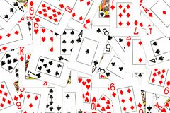 Poker cards mixed on the table royalty free illustration