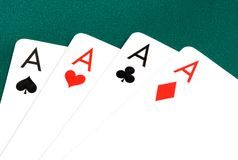 Poker Cards Of Four Aces Royalty Free Stock Image