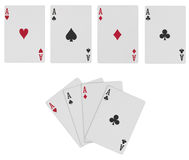 Poker Cards with Path Royalty Free Stock Photos