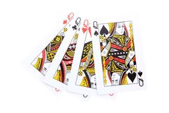 Poker cards Queens Stock Photo
