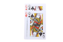Poker cards Queens Royalty Free Stock Images