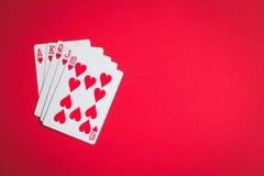 Poker cards. Royal flush stock photo