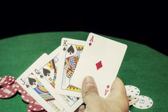 Poker cards royal flush Stock Photo