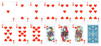 Poker cards. Set poker card of heart in red royalty free illustration