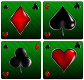 Poker cards signs. Vector illustration of Poker cards signs Royalty Free Stock Photos