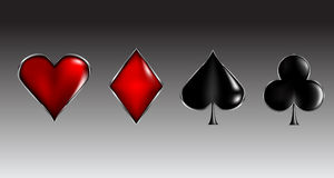 Poker cards signs Royalty Free Stock Photography