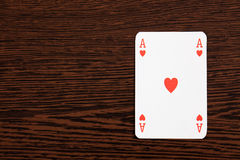 Poker cards on table Stock Images